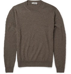 Canali Slim-Fit Textured-Knit Wool Sweater