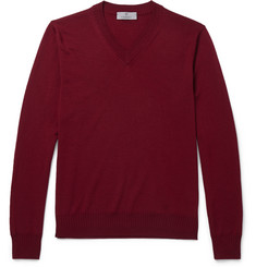 Canali V-Neck Wool Sweater