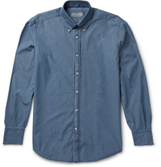 Canali Button-Down Collar Chambray Shirt