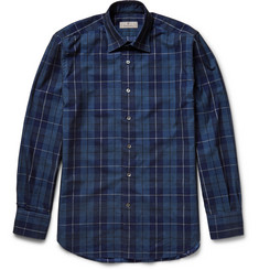 Canali Checked Fine-Wale Cotton-Corduroy Shirt