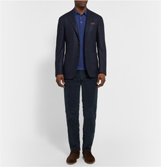 Canali Slim-Fit Cotton-Blend Corduroy Trousers