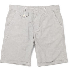 Oliver Spencer Broadstone Slim-Fit Striped Cotton Shorts