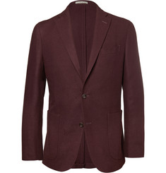 Boglioli Burgundy Dover Wool and Cashmere-Blend Blazer