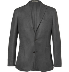 Boglioli Grey Dover Cotton, Silk and Cashmere-Blend Blazer