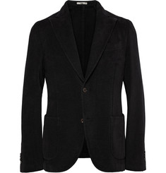Boglioli Black Slim-Fit Cotton-Corduroy Blazer