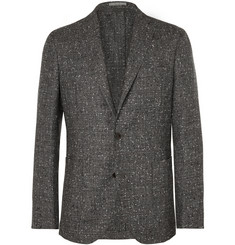 Boglioli Grey Slub Wool and Cashmere-Blend Suit Jacket