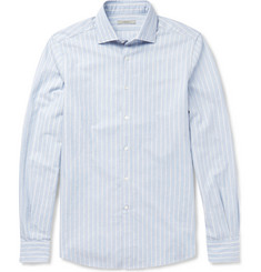 Boglioli Striped Herringbone Cotton Shirt
