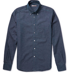 Boglioli Button-Down Collar Cotton-Chambray Shirt