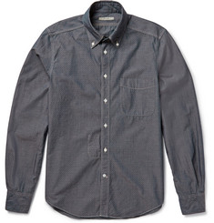 Boglioli Slim-Fit Pin-Dot Cotton-Chambray Shirt
