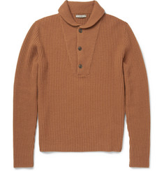 Boglioli Shawl-Collar Knitted Wool and Cashmere-Blend Sweater