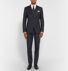 Dolce & Gabbana Midnight-Blue Wool and Mohair-Blend Jacquard Three-Piece Suit