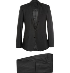 Dolce & Gabbana Grey Slim-Fit Pin-Dot Wool Three-Piece Suit