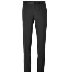 Dolce & Gabbana Black Slim-Fit Wool Tuxedo Trousers