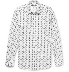 Dolce & Gabbana Gold-Fit Printed Cotton Shirt