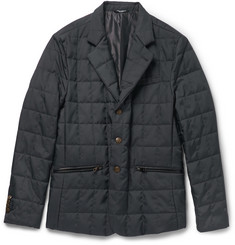 Dolce & Gabbana Leather-Trimmed Quilted Shell Jacket