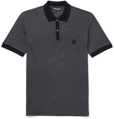 Dolce & Gabbana Slim-Fit Cotton-Piqué Polo Shirt