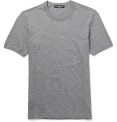Dolce & Gabbana Slim-Fit Crew Neck Cotton-Jersey T-Shirt