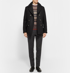 Dolce & Gabbana Slim-Fit Wool and Cotton-Blend Peacoat