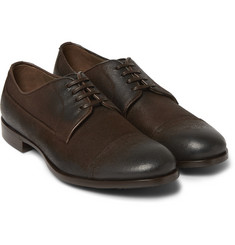 Dolce & Gabbana Washed-Leather Derby Shoes