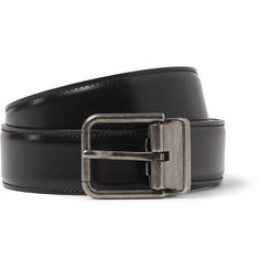 Dolce & Gabbana 3cm Black Leather Belt