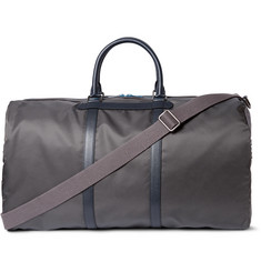 Dolce & Gabbana Textured-Leather, Shell and Canvas Holdall