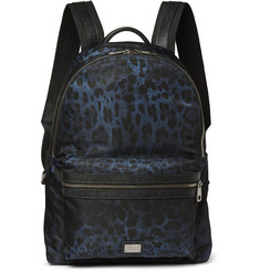 Dolce & Gabbana Leopard-Print Shell Backpack