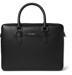 Dolce & Gabbana - Textured-Leather Briefcase