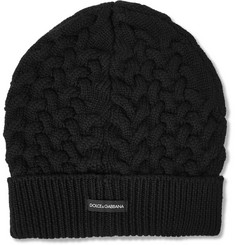 Dolce & Gabbana Cable-Knit Wool Beanie