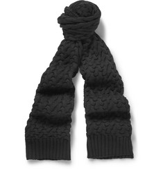 Dolce & Gabbana Cable-Knit Wool Scarf