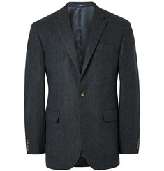 Polo Ralph Lauren Navy Slim-Fit Herringbone Wool Blazer