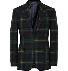 Polo Ralph Lauren Bedford Slim-Fit Checked Wool and Cashmere-Blend Blazer