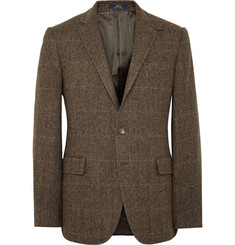 Polo Ralph Lauren Brown Bedford Slim-Fit Herringbone Wool Blazer
