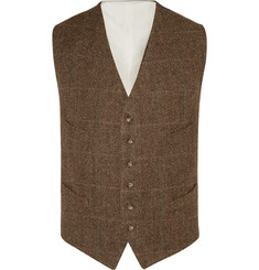 Polo Ralph Lauren Brown Herringbone Wool Waistcoat