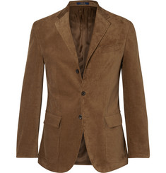 Polo Ralph Lauren Harvard Slim-Fit Suede-Panelled Corduroy Blazer