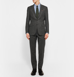 Polo Ralph Lauren Dark-Grey Slim-Fit Puppytooth Wool-Flannel Suit
