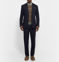Polo Ralph Lauren Midnight-Blue Slim-Fit Wool-Flannel Suit