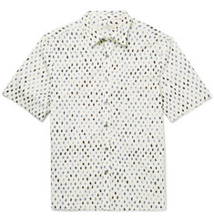 Burberry Brit Leaf-Print Cotton Shirt