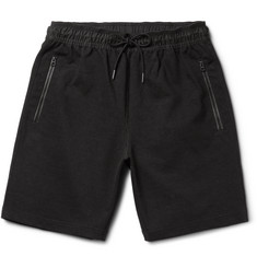 Burberry Brit Shell-Trimmed Cotton-Blend Jersey Shorts