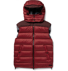 Burberry Brit Fitzroy Faille-Panelled Quilted Down Gilet