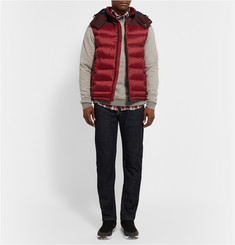 Burberry Brit Faille-Panelled Quilted Down Gilet