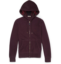 Burberry Brit Fleece-Back Cotton-Blend Jersey Hoodie