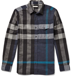 Burberry Brit Checked Cotton-Flannel Shirt