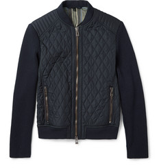 Belstaff Quilted Shell and Ribbed-Knit Jacket
