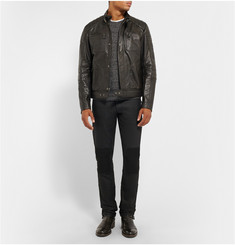 Belstaff Blackrod Coated Stretch-Denim Biker Trousers