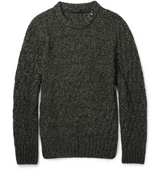 Belstaff Ferndale Cable-Knit Cotton and Wool-Blend Sweater