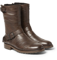 Belstaff - Benhurst Shearling-Lined Leather Boots