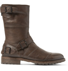 Belstaff Benhurst Shearling-Lined Leather Boots