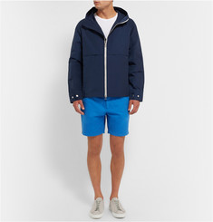 Hentsch Man Two-Tone Cotton-Blend Windbreaker Jacket