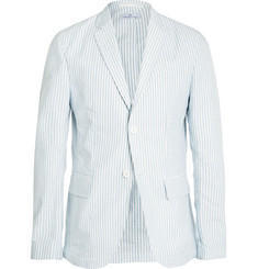 Hentsch Man Light-Blue Striped Cotton Blazer