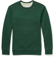 Hentsch Man Two-Tone Washed Cotton-Jersey Sweatshirt